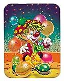 Caroline's Treasures Happy Birthday Clown Mouse Pad, Hot Pad or Trivet, Multicolor (APH1662MP)