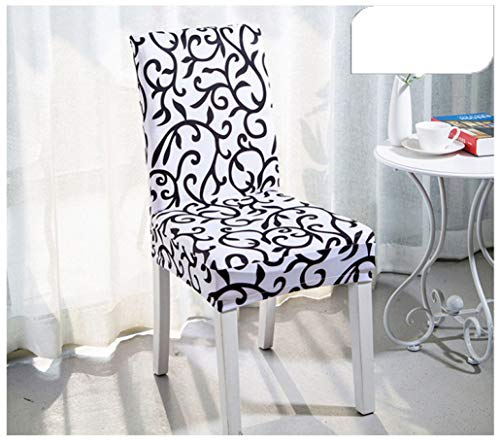 BEOTARU 4/6pcs Dining Chair Cover Spandex Stretch Elastic Slipcovers Stretch Room Kitchen Wedding Banquet Hotel Chair Covers