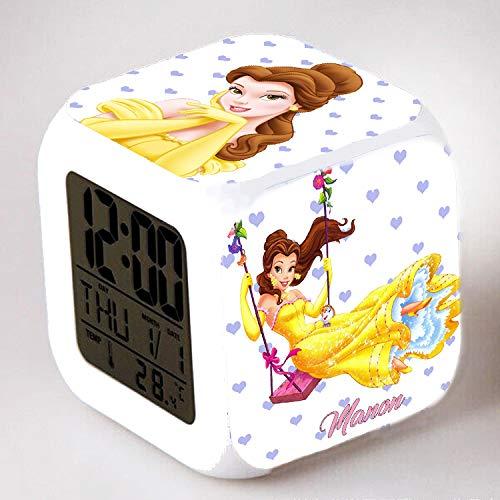 Reveil cube led lumière nuit alarm clock personnalisé prénom et vos photos réf 0