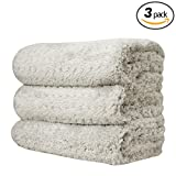 THE RAG COMPANY (3-Pack) 16 in. x 23 in. PLATINUM PLUFFLE Professional Korean 70/30 490gsm Plush Waffle Microfiber Detailing Towels