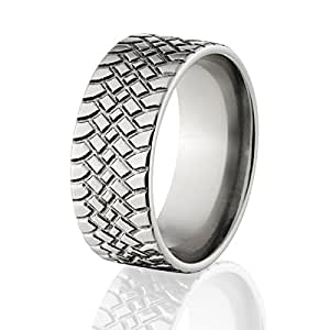 custom tire tread ring made in durable titanium mud tire