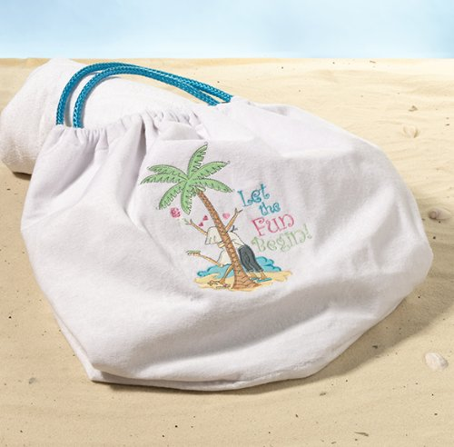 Lillian Rose Travel Fun Beach Bag Destination Wedding Tote