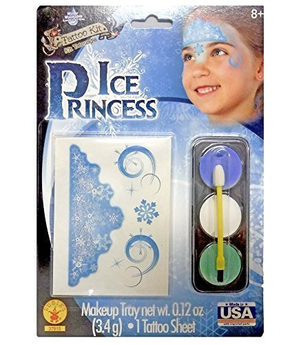 Ice Princess Costume Make-Up Kit (Disney Frozen Tattoos)