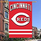 Cincinnati Reds 2-sided 28x44 Premium Embroidered Applique Banner Flag Baseball