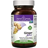 New Chapter Ginger Supplement – Ginger Force  with Supercritical Organic Ginger + Non-GMO Ingredients – 60 ct Vegetarian Capsules
