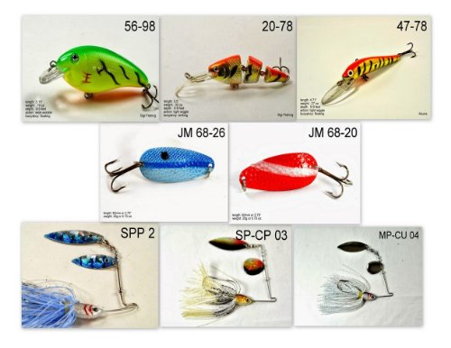 Akuna [NY] Pros' pick recommendation collection of lures for Bass, Panfish, Trout, Pike and Walleye fishing in New York(Bass 8-A) (Best Pike Fishing In New York)