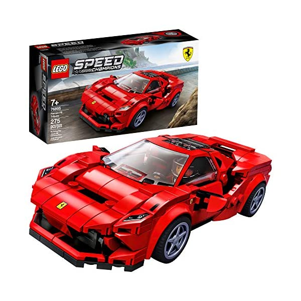 LEGO Speed Champions 76895 Ferrari F8 Tributo Toy Cars for Kids, Building Kit Featuring Minifigure (275 Pieces)