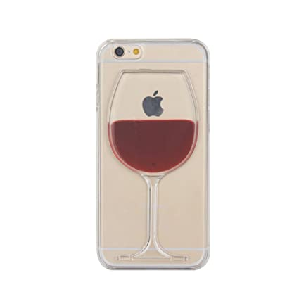 best service f0854 183c1 Aenmil® iPhone 6 Wine Glass Case, Red Wine Cover for iPhone 6S, Cute Red  Wine Liquid Goblet Plastic Hard Back Cover Case for Apple Iphone 6/6S ...