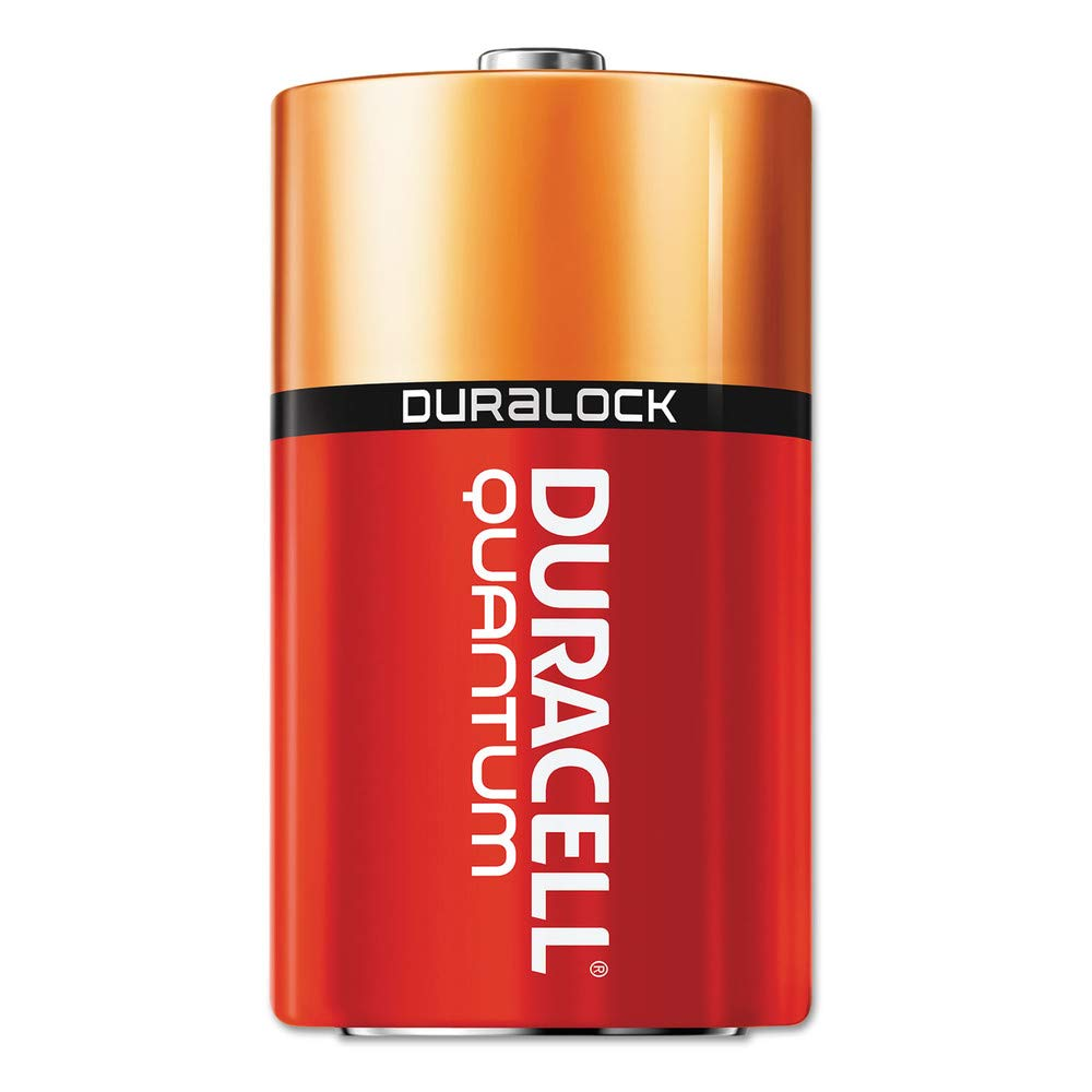 Quantum Alkaline Batteries with Duralock Power Preserve Technology, C, 12/Pk