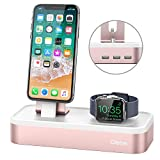 (US) Apple Watch Series 3 Stand, Oittm [5 in 1 New Version] 5-port USB Rechargeable Stand for iWatch Series 3/2/1, iPhone X, 8, 8 Plus, 7, 7 Plus, 6, iPad Mini, iPod, Apple Pencil (Rose Gold)