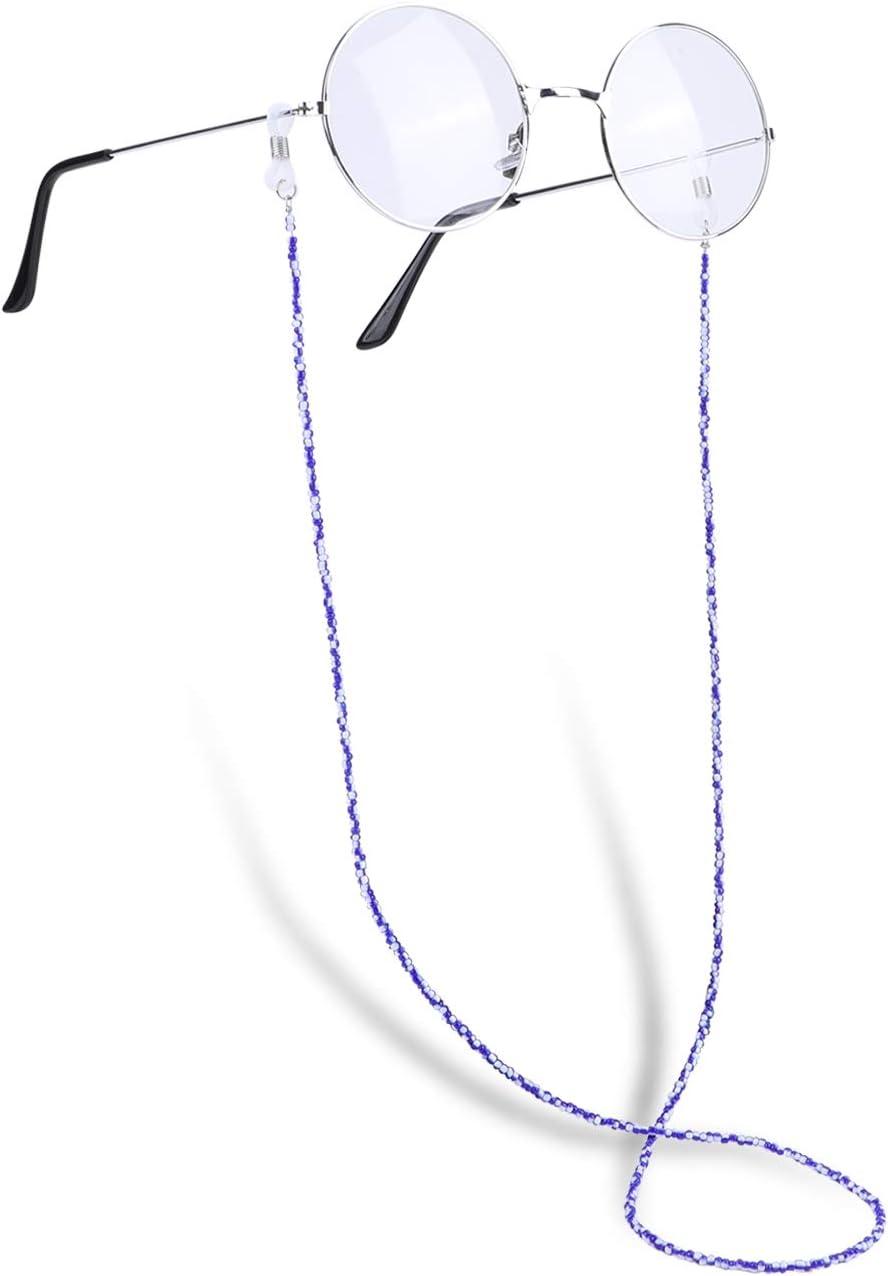 Hifot Correa Gafas 5 Piezas Perlas Cuerda Gafas de Sol Abalorios Retenedor Cadenas Gafas Cuello Correa Lectura para Mujer Hombre