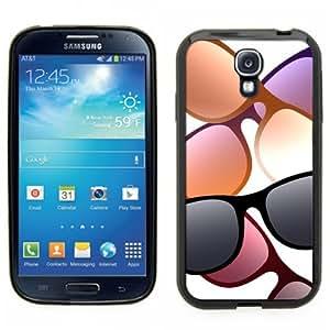 Samsung Galaxy S4 SIIII Black Rubber Silicone Case - Sunglass design, Hipster, Ray Ban, Aviator