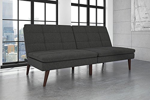 DHP Westbury Linen Pillowtop Futon, Grey Linen (Top Futon)