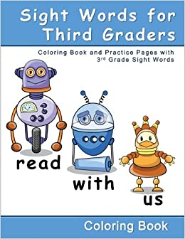amazon com sight words for third graders coloring book and