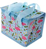 Woven Cool Bag Lunch Box - Lauren Billingham Flamingo