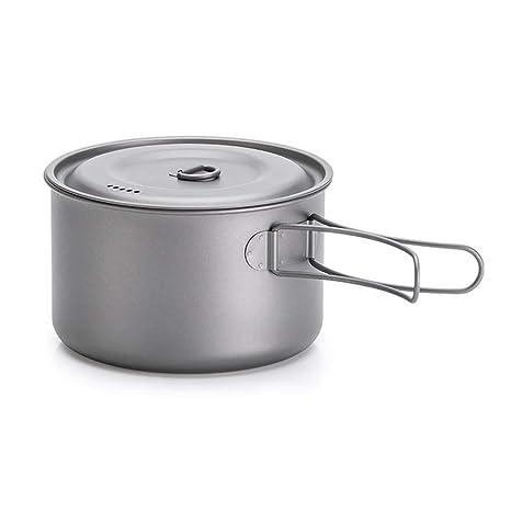 Juego de utensilios de cocina para acampar - Juego de ollas para sartenes para acampar Juegos