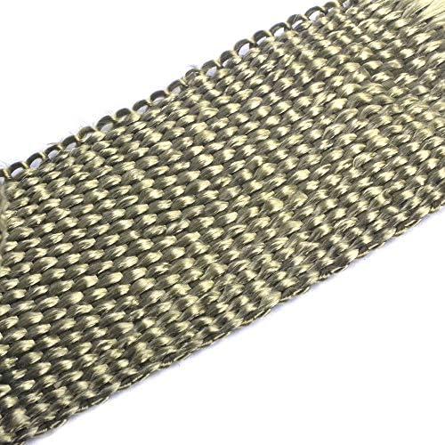 Ruilasago Hitzeschutzband Basaltfaser Hitzeschutz Auspuffband 5m Mit Kabelbinder Für Fächerkrümmer Thermoband Krümmerband Auto Motorrad Titan Auto