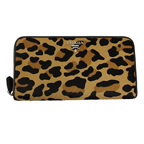 Prada Leopard Horsehair Leather Long Wallet 1ml506 Cavallino Zip Around (Prada Long Wallet)