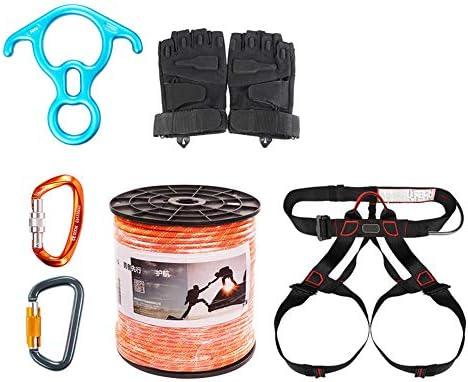 Juego de cuerdas de seguridad para escalar, equipo de cuerda de ...