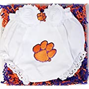 Future Tailgater Clemson Tigers Baby Diaper Cover and Shabby Bow Headband Gift Set (Newborn - 6 months/13)