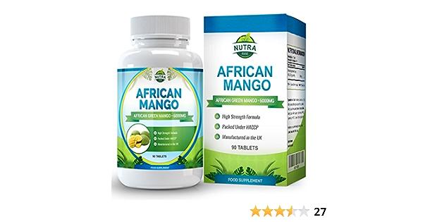 Mango Africano para perder peso y quemar grasa. Controla los niveles de leptina para adelgazar rápido. 6000mg de extracto de Irvingia gabonensis. ...