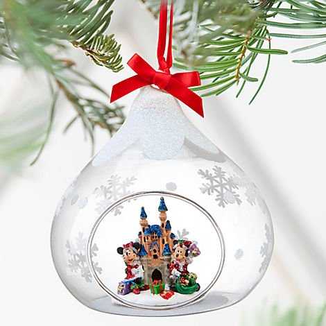 Disneyland 2012 Mickey & Minnie Sleeping Beauty Castle Christmas Ornament - Disney Theme Parks Exclusive & Limited Availability