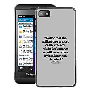 A-type Arte & diseño plástico duro Fundas Cover Cubre Hard Case Cover para Blackberry Z10 (Inspirational Quote Text Letter Truth)