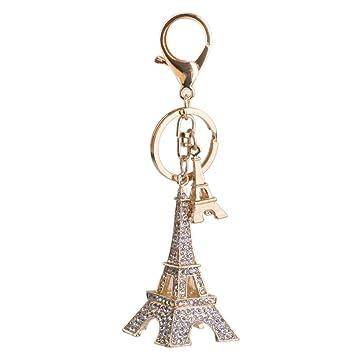 Gracioso Rhinestone torre Eiffel colgante Torre Eiffel ...