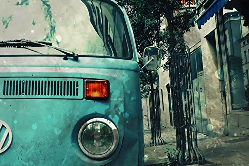 Volkswagen Transporter Vintage Car Poster