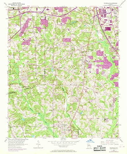 - YellowMaps Riverdale GA topo map, 1:24000 Scale, 7.5 X 7.5 Minute, Historical, 1954, Updated 1969, 26.8 x 22 in - Paper