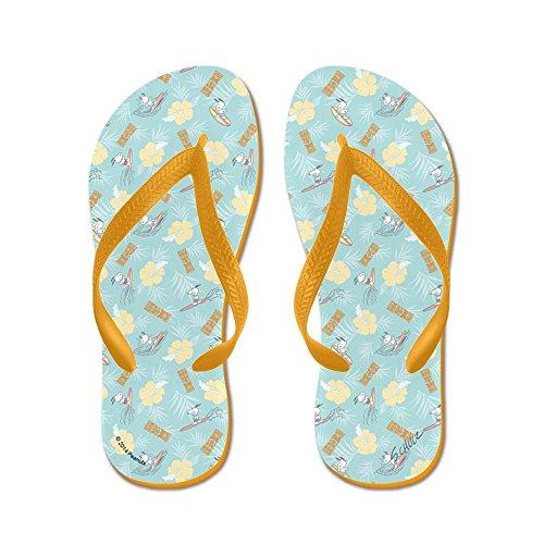CafePress Snoopy Tiki - Flip Flops, Funny Thong Sandals, Beach Sandals Orange