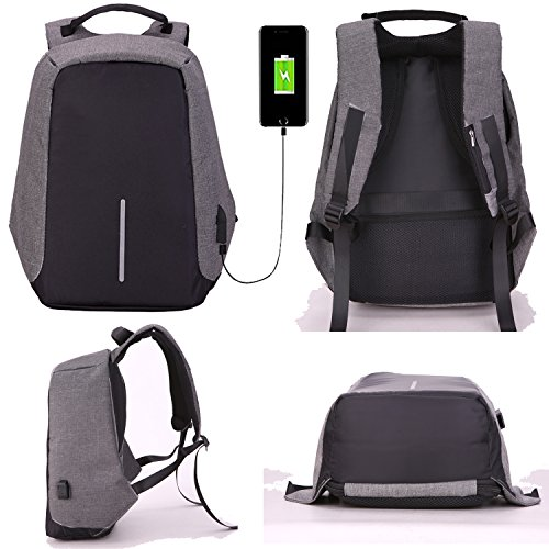 Laptop Backpack, Youpeck Business Laptop Bag with USB Charge Port Anti-Theft Water Resistant Casual School Bookbag for College Travel Backpack for Macbook Pro 15/ 15.6-Inch Laptop Ultrabook -Dark Grey Photo #3