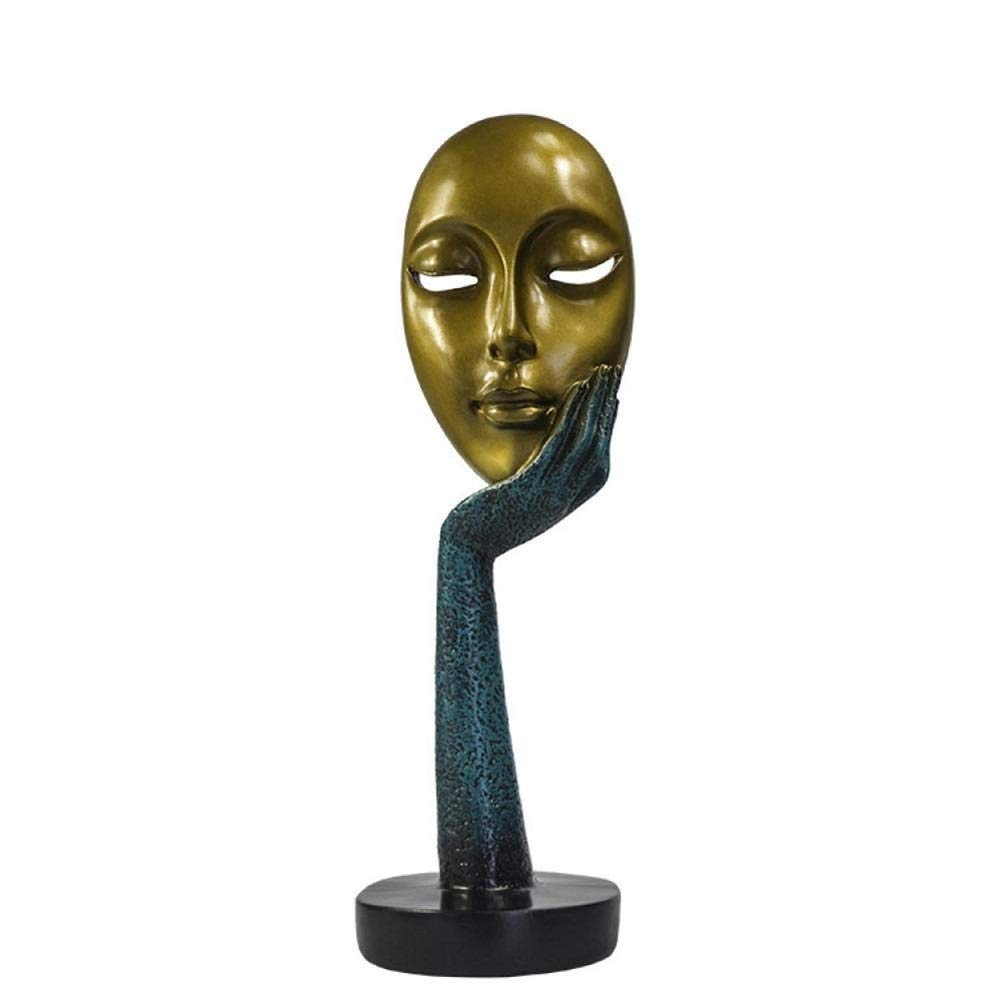 DSWGYP Sculpture Statue European Mask Face Crafts Jewelry Living Room Home Decoration Ornaments Modern