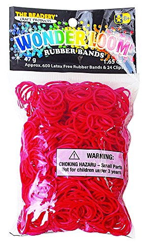 Wonderloom Bands - Red (Red Bands For A Loom)