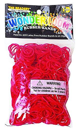 The Beadery 7295067 Wonderloom Bands, Red