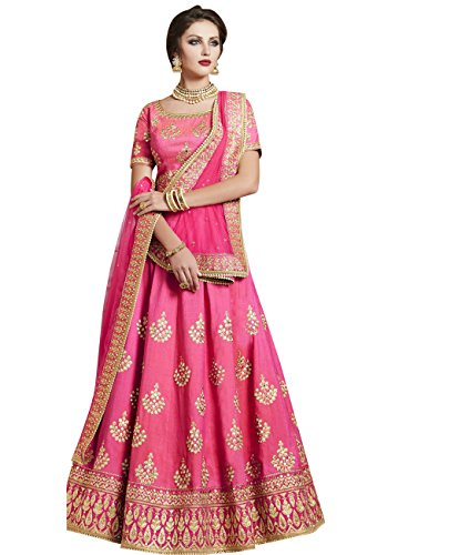 Exclusive Indian Ethnicwear Pink Coloured Lehenga Saree by Maahir Garments