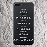 Friends iPhone 7 8 6 6s plus X Xs Max Xr case TV Show Merchandise Joey Rachel Monica Phoebe Ross Chandler Cell Phone Case for iphone 5 5s se 5se Shirt sweatshirt patch gifts print clear silicone cover