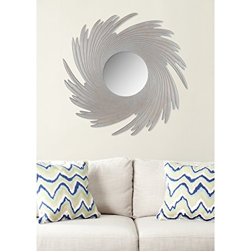 Safavieh Home Collection Nouveau Wave Mirror, Grey by Safavieh