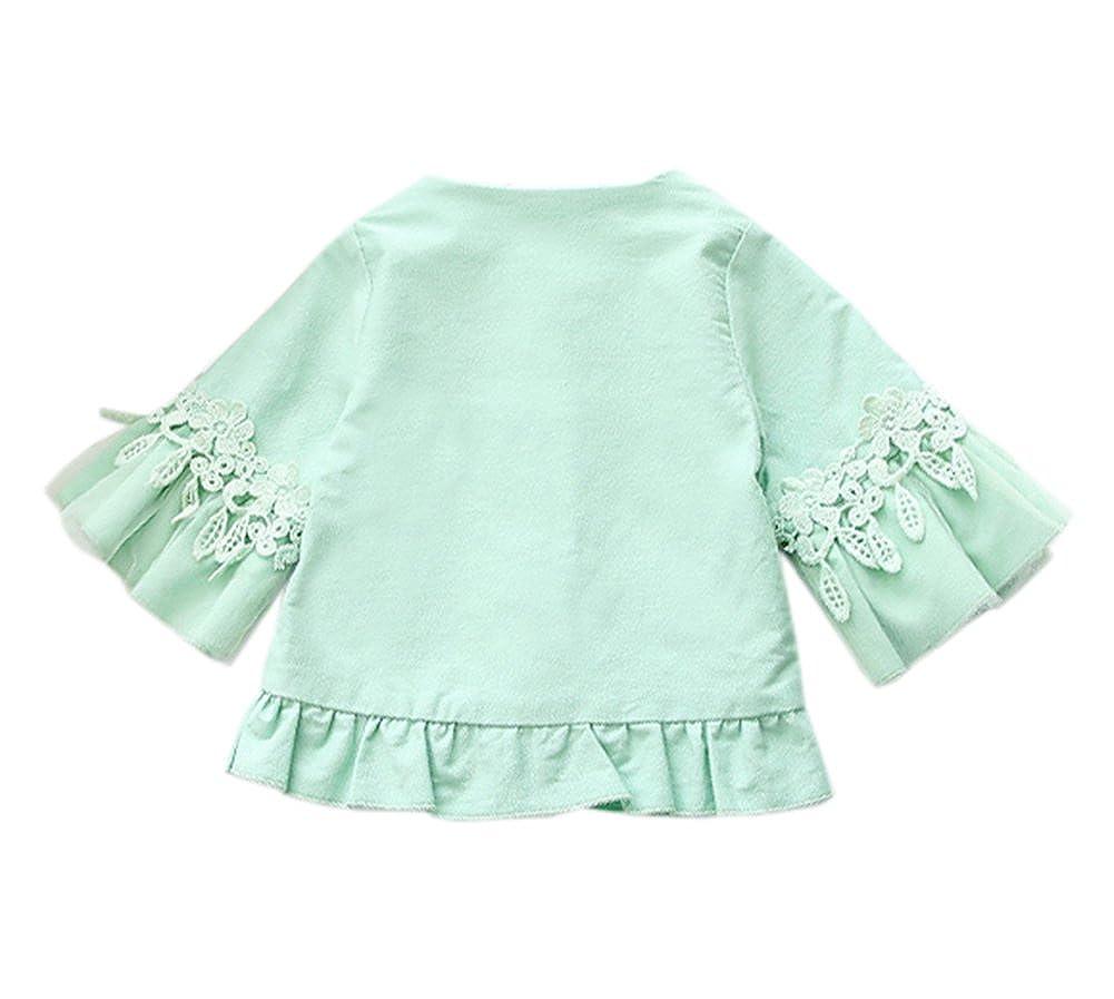 TAIYCYXGAN Baby Girls Autumn Princess Outwear Jacket Coat Toddler Ruffle Overcoat Windbreaker Trench Coat