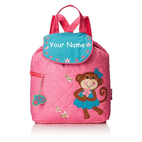 - Stephen Joseph Personalized Quilted Monkey Backpack Book Bag