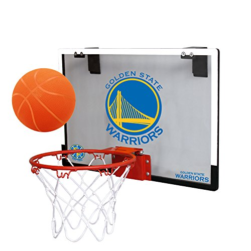 Golden State Warriors Basketball (NBA Golden State Warriors Game On Indoor Basketball Hoop & Ball Set, Regular, Blue)