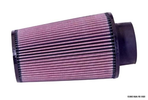 K&N RE-0920 Universal Clamp-On Air Filter: Round Tapered; 3.5 in (89 mm) Flange ID; 9 in (229 mm) Height; 6 in (152 mm) Base; 4.625 in (117 mm) Top
