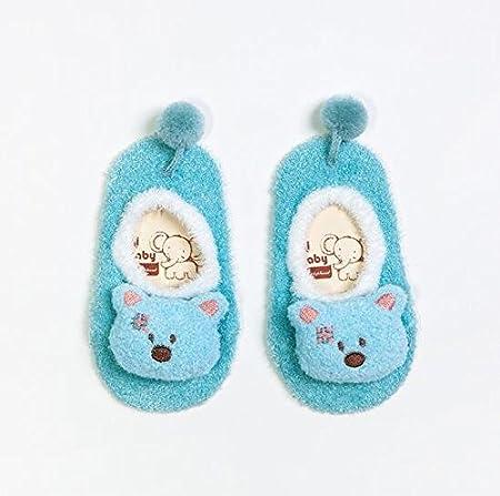 Red wiBille 3D de Dessin anim/é Court Chaussettes Enfants Chaussons Pantoufle Chaussure pour b/éb/é Kid pour Enfant Nouveau-n/é Taille M