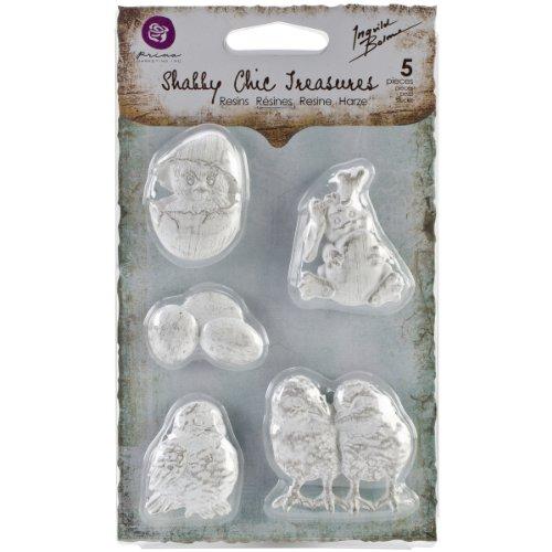 (Prima Marketing Shabby Chic Treasures Resin, Easter, 5-Pack)