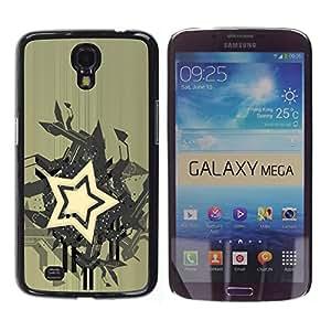 Be-Star Único Patrón Plástico Duro Fundas Cover Cubre Hard Case Cover Para Samsung Galaxy Mega 6.3 / i9200 / SGH-i527 ( Star Abstract Art )