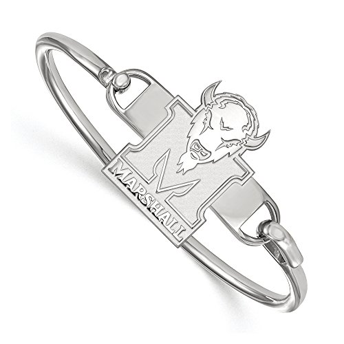 NCAA Sterling Silver Marshall University Herd Bangle, 8 inch by LogoArt