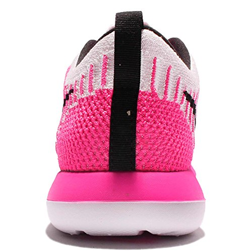 Nike Roshe Two Flyknit (Gs), Zapatillas De Running para Mujer Rosa (Pearl Pink / Black-Pink Blast-White)