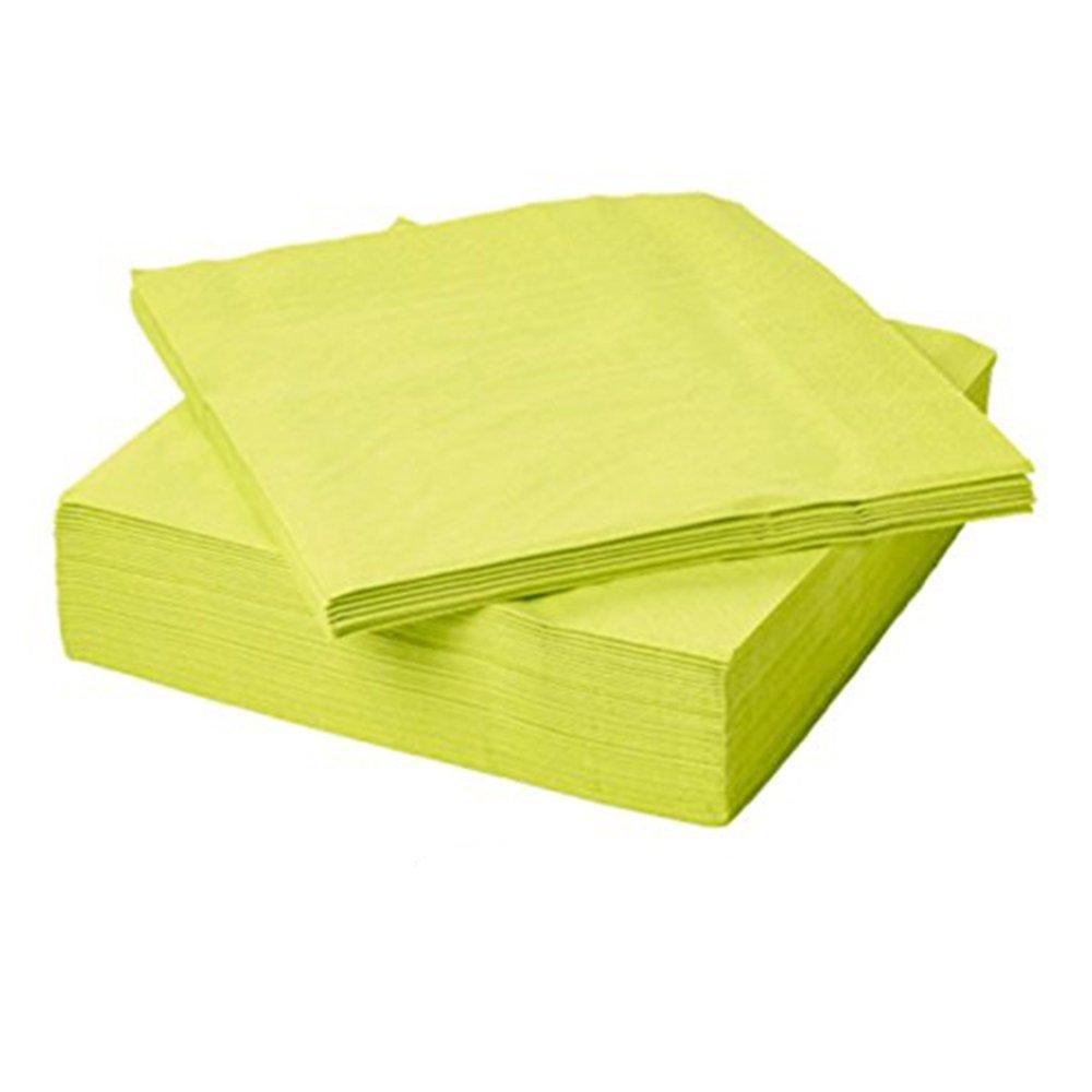 IKEA FANTASTISKペーパーナプキン グリーン B076D1R9W4 ライトグリーン 100