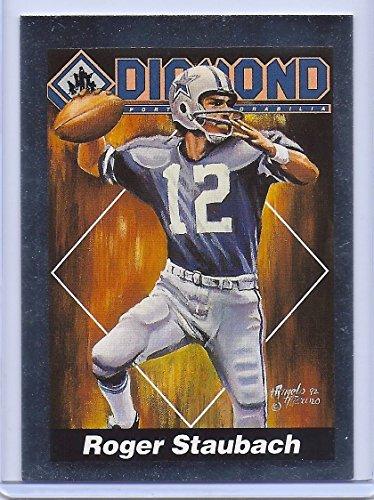 Rare Roger Staubach Dallas Cowboys 1992 Diamond Sports Silver FOIL #26!