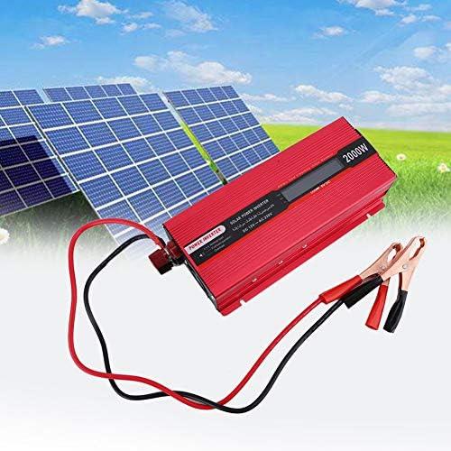 Solar Wechselrichter, Solar Inverter DC 12V zu Wechselstrom 220V 2000W beweglicher Auto Inverter Solarstrom Inverter Adapter Installationssatz Solar Photovoltaik Stromrichter